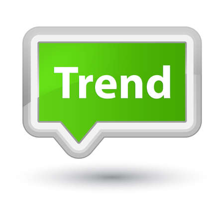 Trend isolated on prime soft green banner button abstract illustration