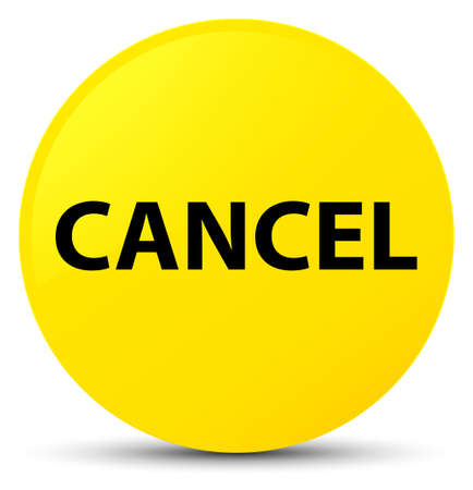 Cancel isolated on yellow round button abstract illustration Stock Photo