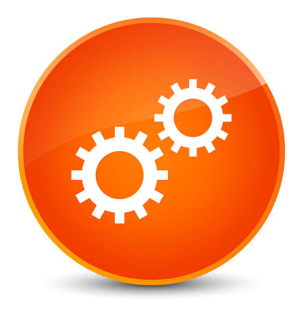 Process icon isolated on elegant orange round button abstract illustration