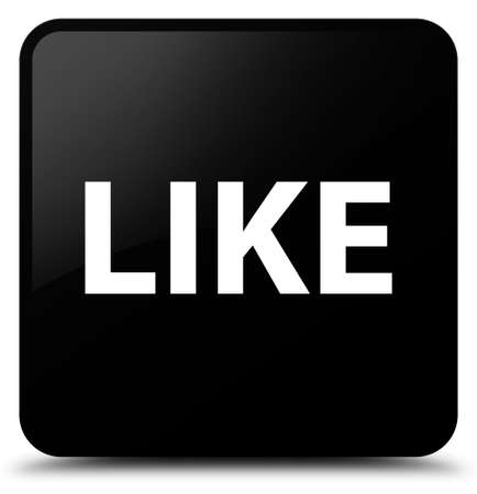 Like isolated on black square button abstract illustration Stock Photo