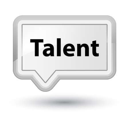 Talent isolated on prime white banner button abstract illustration Stock fotó