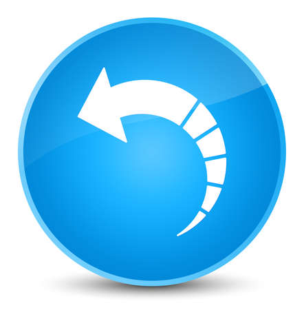 Back arrow icon isolated on elegant cyan blue round button abstract illustration