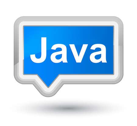 プライムシアンブルーバナーボタンの抽象的なイラストに分離された Java 写真素材