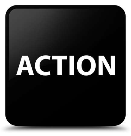 Action isolated on black square button abstract illustration Stok Fotoğraf - 89488008
