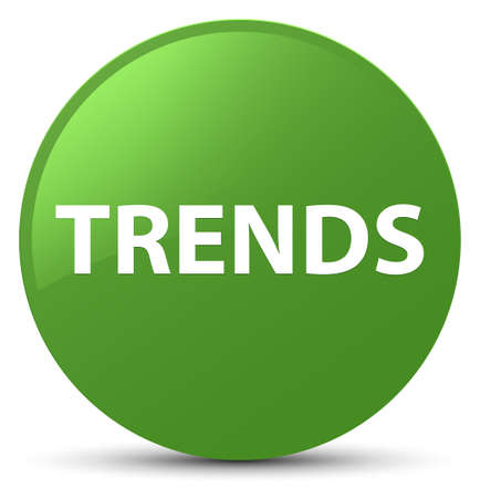 Trends isolated on soft green round button abstract illustration