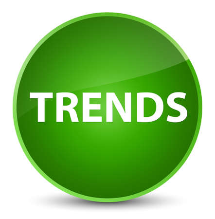 Trends isolated on elegant green round button abstract illustration