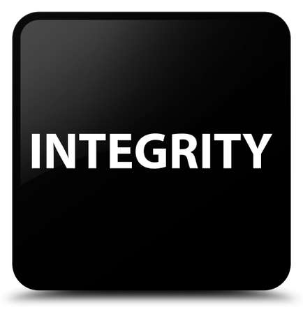 Integrity isolated on black square button abstract illustration