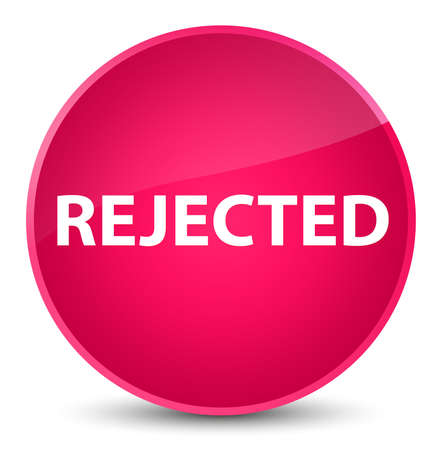 Rejected isolated on elegant pink round button abstract illustration Stock Photo