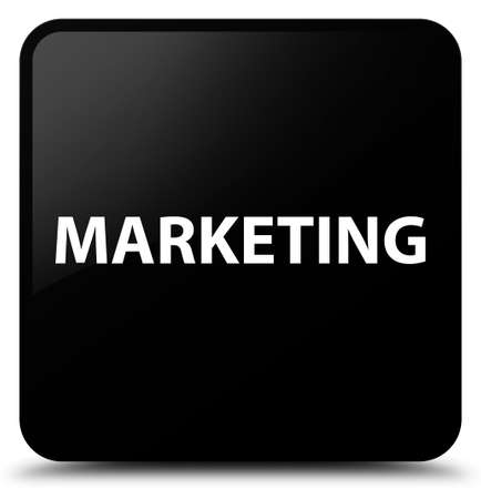 Marketing isolated on black square button abstract illustration Stock Photo
