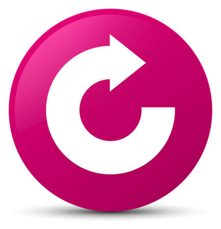 Reply arrow icon isolated on pink round button abstract illustration
