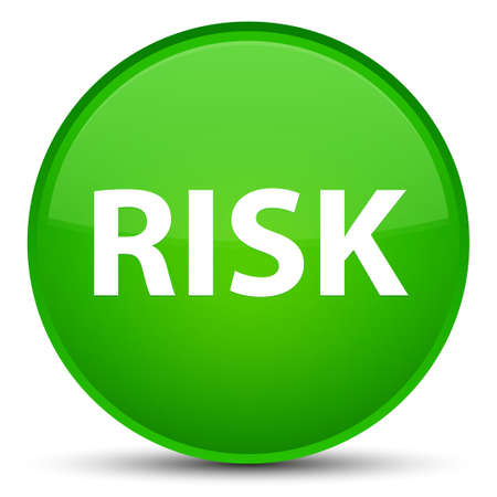 Risk isolated on special green round button abstract illustration