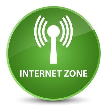 Zone Internet (réseau WLAN) isolé sur une illustration abstraite élégante bouton rond vert doux Banque d'images - 89525183