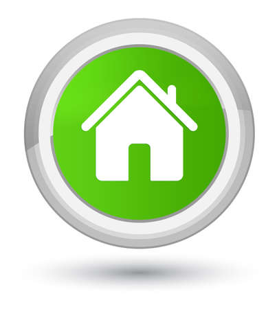 Home icon isolated on prime soft green round button abstract illustration