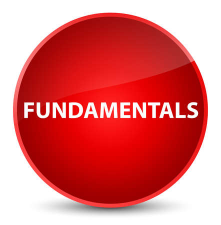 Fundamentals isolated on elegant red round button abstract illustration