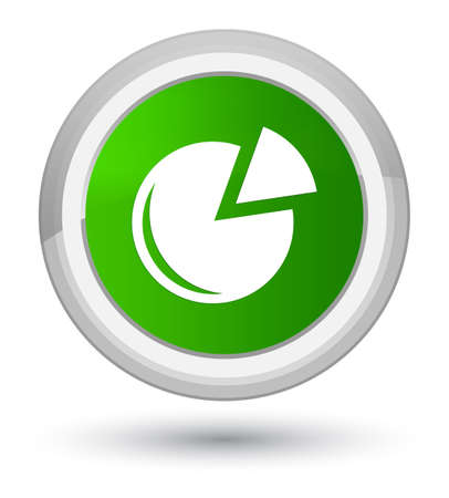 Graph icon isolated on prime green round button abstract illustration