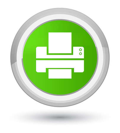 Printer icon isolated on prime soft green round button abstract illustration Stock Photo