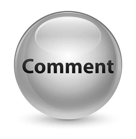 Comment isolated on glassy white round button abstract illustration