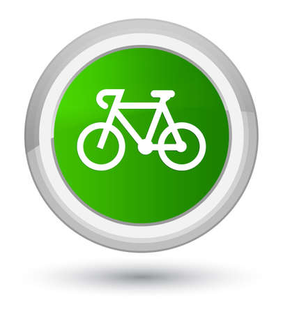 Bicycle icon isolated on prime green round button abstract illustration Stock Photo