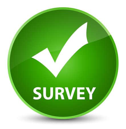 Survey (validate icon) isolated on elegant green round button abstract illustration Stock Photo