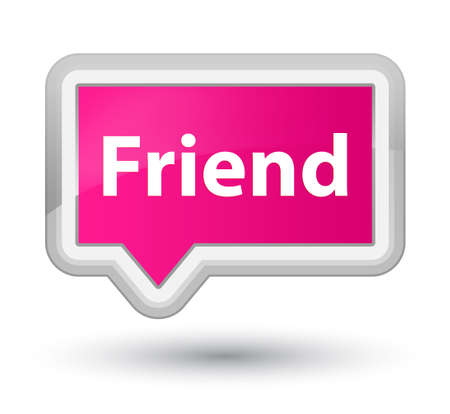 Friend isolated on prime pink banner button abstract illustration Stock Photo