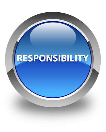 Responsibility isolated on glossy blue round button abstract illustration