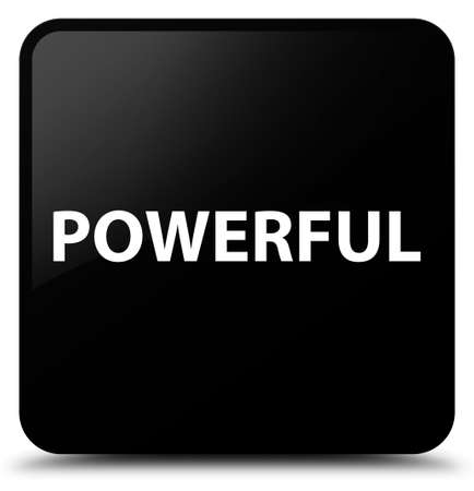 Powerful isolated on black square button abstract illustration