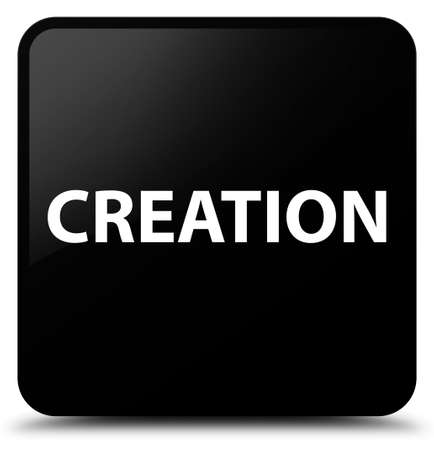 Creation isolated on black square button abstract illustration Stok Fotoğraf