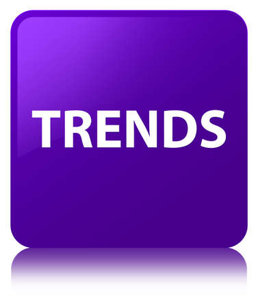Trends isolated on purple square button reflected abstract illustration