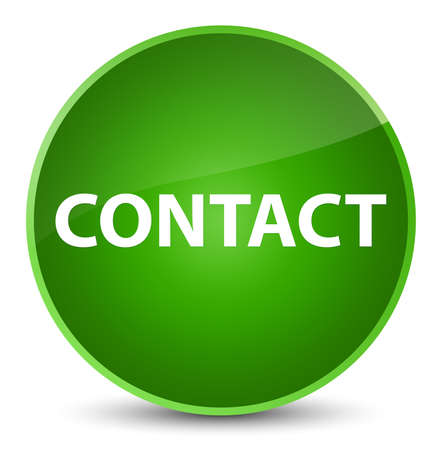 Contact isolated on elegant green round button abstract illustration