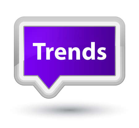 Trends isolated on prime purple banner button abstract illustration