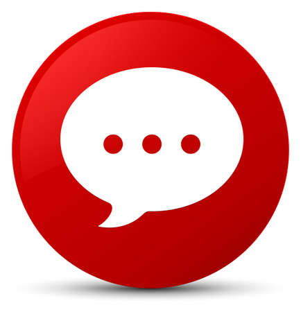 Conversation icon isolated on red round button abstract illustration Stock Photo