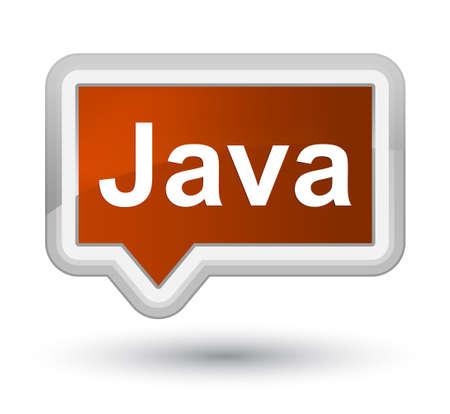 プライムブラウンのバナーボタンの抽象的なイラストに分離された Java