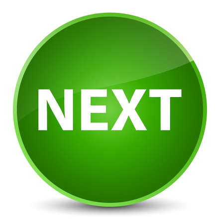 Next isolated on elegant green round button abstract illustration Stock Photo