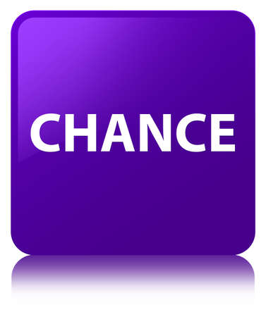 Chance isolated on purple square button reflected abstract illustration