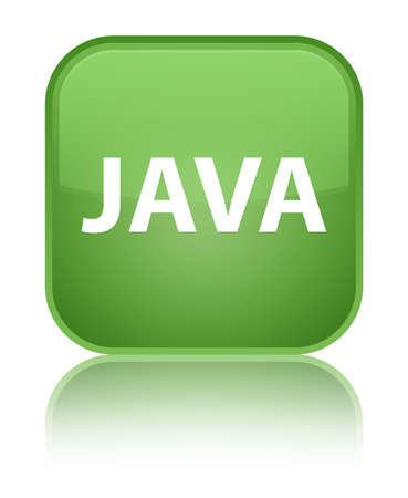 Java isolated on special soft green square button reflected abstract illustration Stock Photo