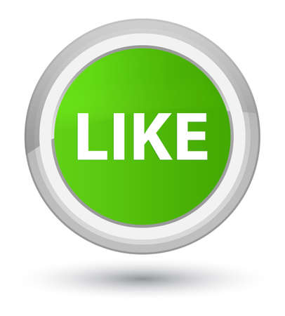 Like isolated on prime soft green round button abstract illustration
