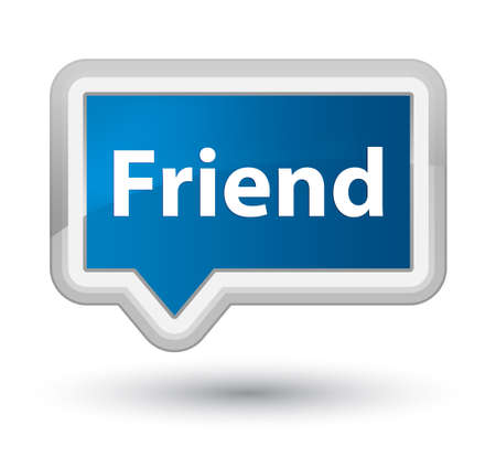 Friend isolated on prime blue banner button abstract illustration