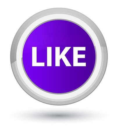Like isolated on prime purple round button abstract illustration