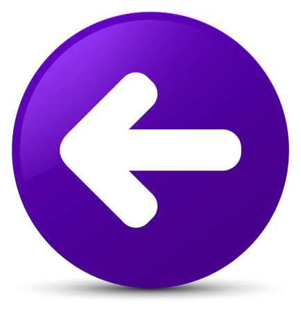 Back arrow icon isolated on purple round button abstract illustration