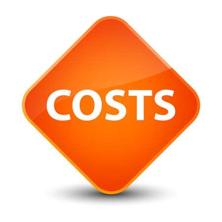 Costs isolated on elegant orange diamond button abstract illustration