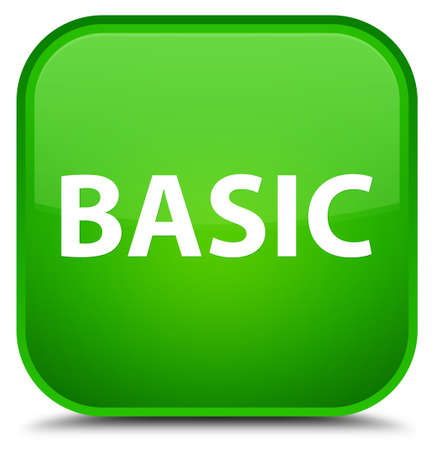 Basic isolated on special green square button abstract illustration Фото со стока