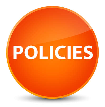 Policies isolated on elegant orange round button abstract illustration