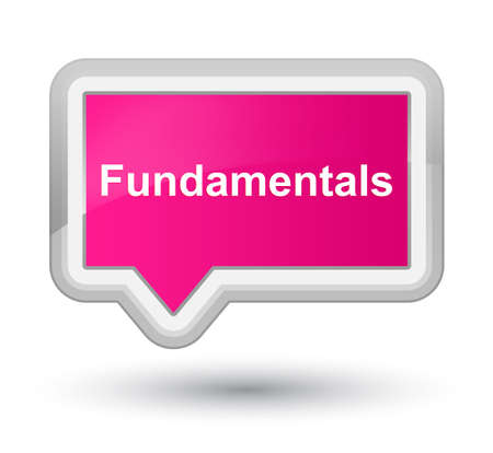 Fundamentals isolated on prime pink banner button abstract illustration