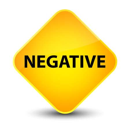 Negative isolated on elegant yellow diamond button abstract illustration
