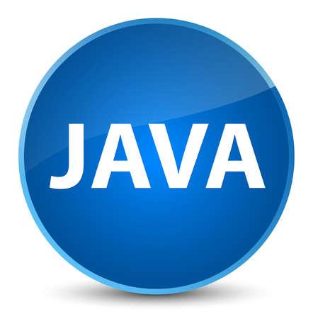 エレガントな青い丸いボタンの抽象的なイラストに隔離されたJava 写真素材