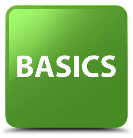 Basics isolated on soft green square button abstract illustration
