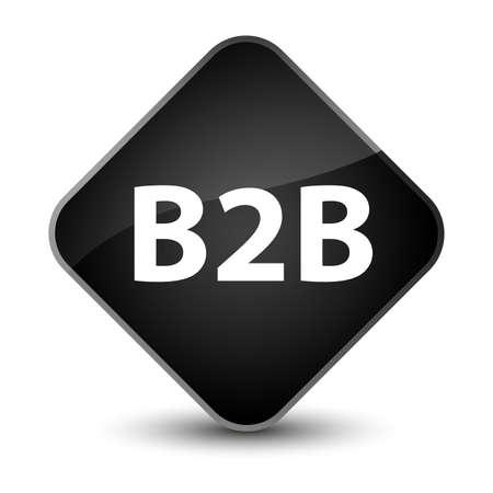 B2b isolated on elegant black diamond button abstract illustration