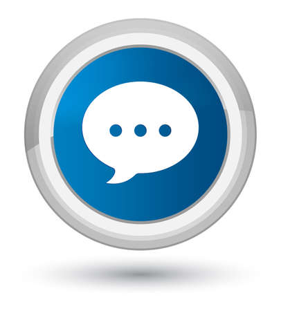 Conversation icon isolated on prime blue round button abstract illustration