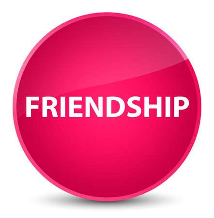 Friendship isolated on elegant pink round button abstract illustration Reklamní fotografie