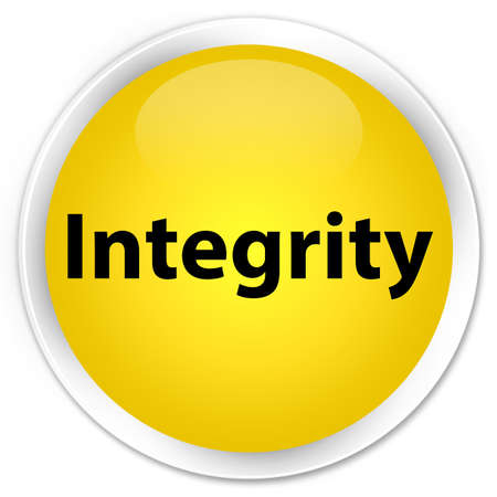 Integrity isolated on premium yellow round button abstract illustration